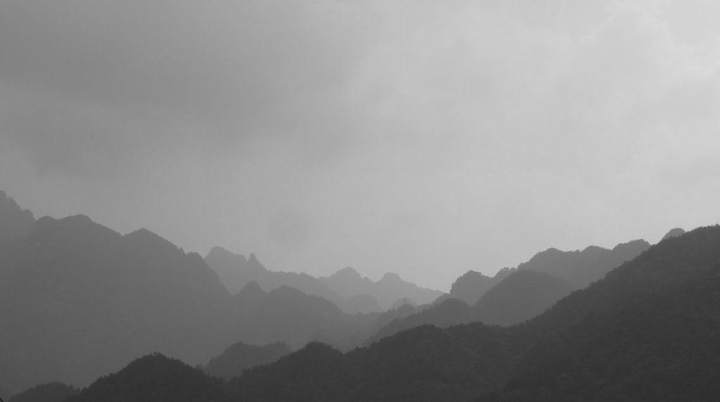 ciel montagne brume esprit serein